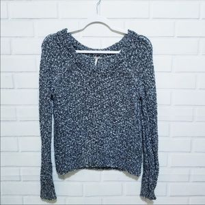 Free People Knitted Pullover Crewneck Sweater